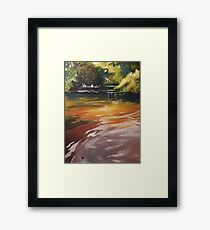 Three Seasons Landscape Oil Painting Framed Print