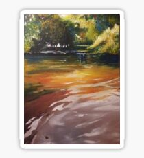 Three Seasons Landscape Oil Painting Sticker
