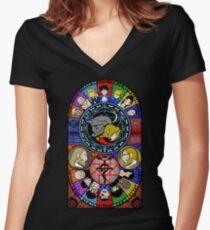 Fullmetal Alchemist Glasmalerei Shirt mit V-Ausschnitt