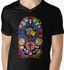Fullmetal Alchemist Stained Glass Men's V-Neck T-Shirt