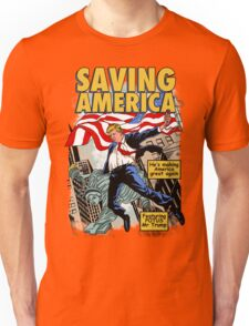 President Donald Trump Saving America Comic Cover Unisex T-Shirt