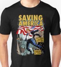 President Donald Trump Saving America Comic Cover Unisex T-Shirt