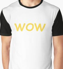 Dogecoin WOW! Gold Text Graphic T-Shirt