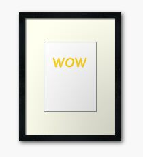 Dogecoin WOW! Gold Text Framed Print