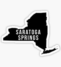 Saratoga Springs, New York State Silhouette Sticker