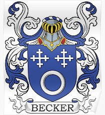 Becker Coat of Arms Poster