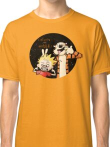Calvin And Hobbes Funny Face Classic T-Shirt