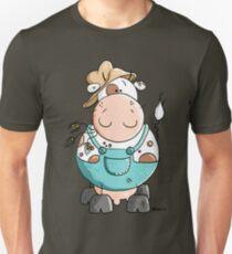 Farmer Cow Cartoon Unisex T-Shirt