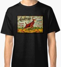 ANDREWS HUNT CLUB: Vintage Hunting Print Classic T-Shirt