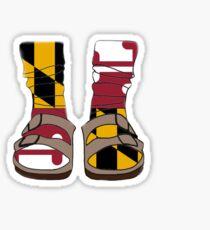 Maryland Flag Birkenstocks  Sticker