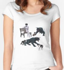 Gozer at the Dog Park Women's Fitted Scoop T-Shirt