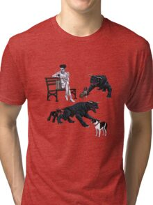 Gozer at the Dog Park Tri-blend T-Shirt