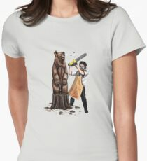 Leatherface's Secret Hobby Women's Fitted T-Shirt