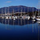 Early morning in Hobart. Tasmania, Australia. by Ralph de Zilva