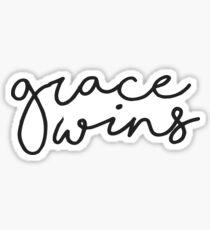 grace wins Sticker
