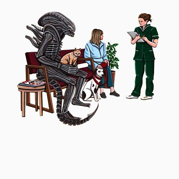 Alien Takes Jonesy to the Vet by KEssenpreis