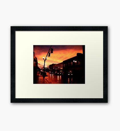 Red Sky at Dusk Framed Print