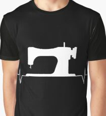 Quilter Heartbeat Sewing Graphic T-Shirt