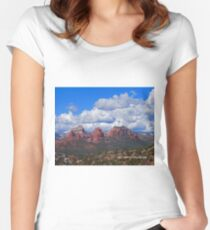Sedona Mountains Women's Fitted Scoop T-Shirt