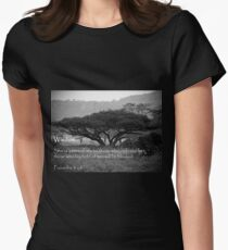 Wisdom...Tree of Life Womens Fitted T-Shirt