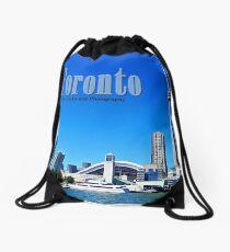 Toronto Skyline Drawstring Bag