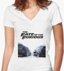 The Fate Of The Furious F8 Women's Fitted V-Neck T-Shirt