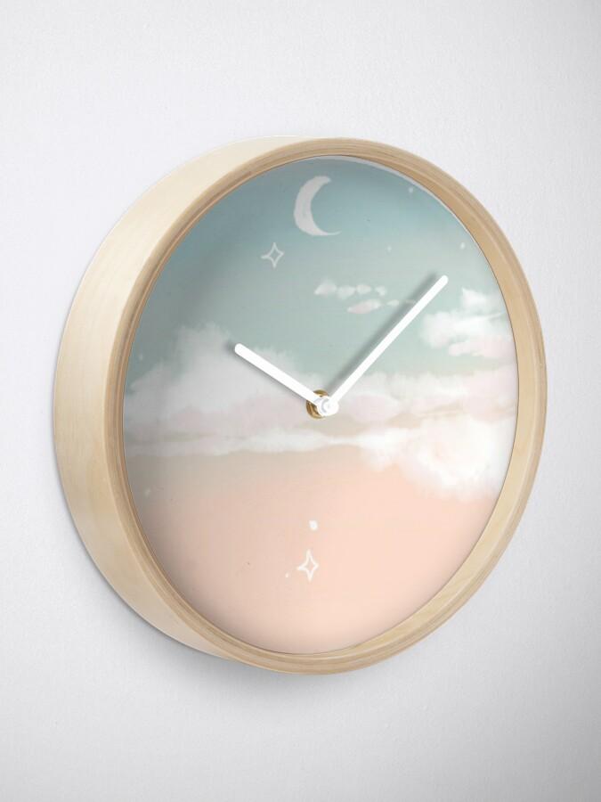 Alternative Ansicht von Pastell Himmel Uhr