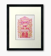 Tropical House – Pink Ombré Framed Print