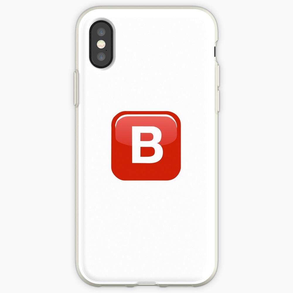 B Emoji Funda y vinilo para iPhone