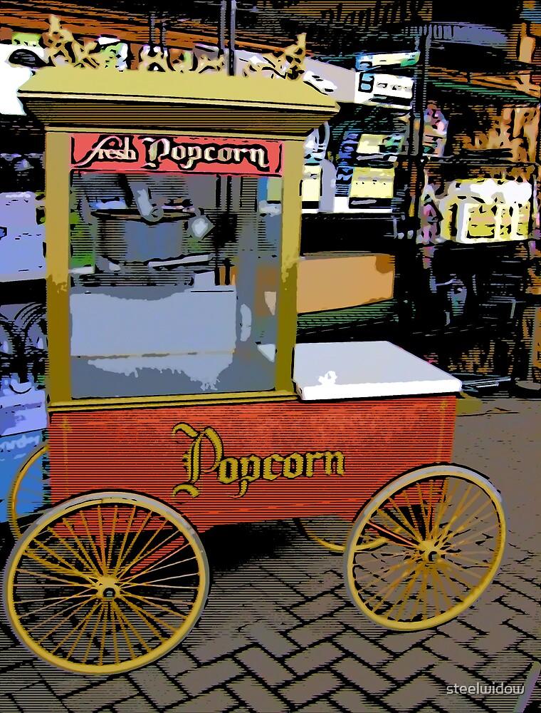 Comic Abstract Popcorn Cart by steelwidow
