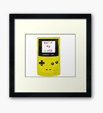 color my world yellow Framed Print