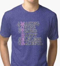 Mothers Day Gift For Mom Shirt Tote Card Mum Gift Ideas: Mother Amazing Loving Tri-blend T-Shirt