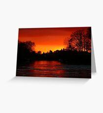 Red Sky at Night Greeting Card
