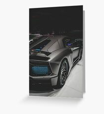 Blue and black lamborghini Greeting Card