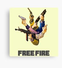 Free Fire Gun Fight Canvas Print