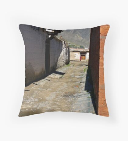 Back Streets Throw Pillow