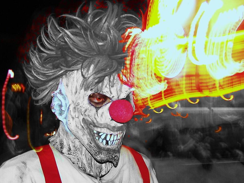 Crazy Clown by dickeyschick