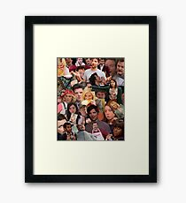 Parks and Recreation collage Framed Print