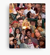 Parks and Recreation collage Canvas Print