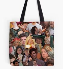 Parks and Recreation collage Tote Bag