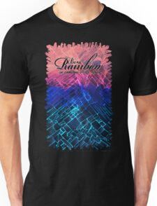 Rainbow typograph with Black Cracked out Glass abstract painting Unisex T-Shirt