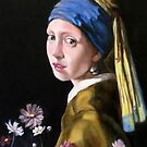 study woman after Johannes Vermeer by Hidemi Tada