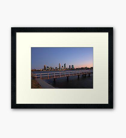 Perth At Dawn Framed Print