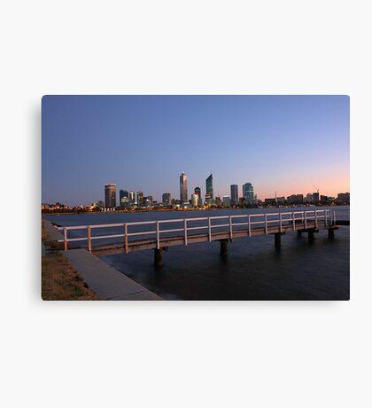 Perth At Dawn Canvas Print