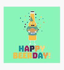 Happy Beerday Beerbottle Rhnp3 Photographic Print