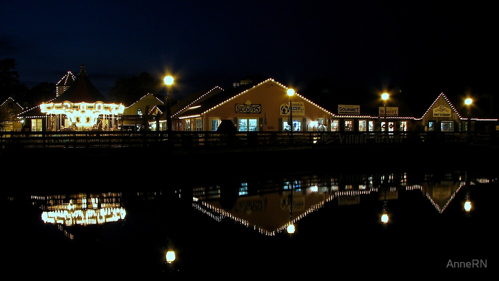 Smithville at Night by AnneRN