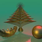 3D Christmas tree and ball with fractal object by Anjo Lafin
