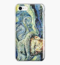 Van Gogh With Starry Night iPhone Case/Skin