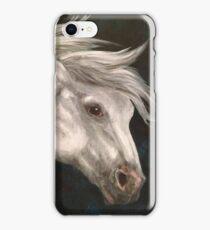 Pale Grey Horse iPhone Case/Skin