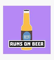 Runs on Beer R7ta2 Photographic Print